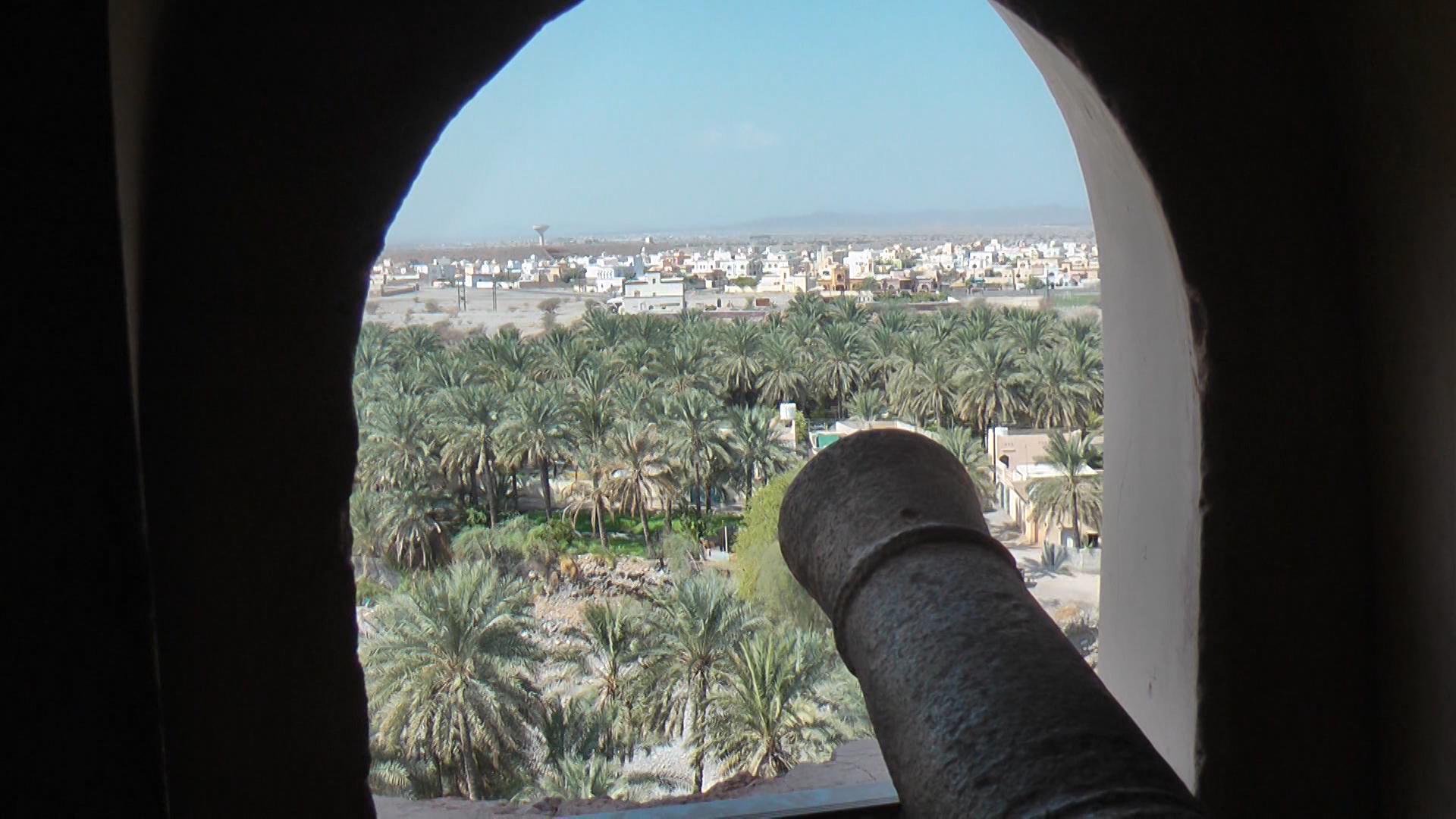 REISE-Logovid Oman Palast von Jabrin - Kanonenrohr