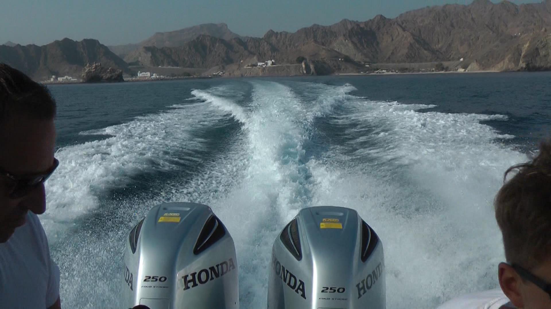 REISE-Logovid Oman Motorboot